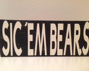 Primitive sign baylor wall decor shelf sitter