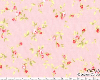 Floral Collection by Lecien  Pretty Rosebuds on pink  30743-20 Cotton Fabric