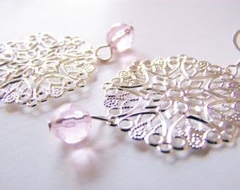 FREE SHIPPING wai - Fireworks - silver filigree - affordable gifts treasures - Summer - gifts - weddings - holiday sparkle - vacation resort