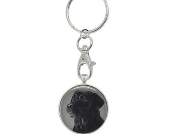 Custom Photo Art Keychain - Pet Memorial Keychain - PERSONALIZED Pet Metal Framed PHOTO Key Ring