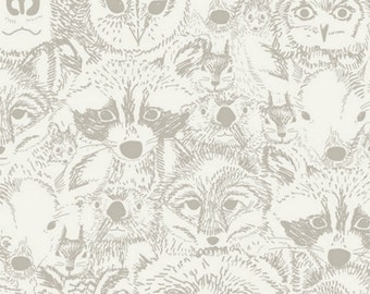 Art Gallery - Indian Summer Collection by Sarah Watson - Menagerie Timberwolf