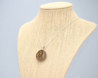 Facet Collection - Polished Beach Rock Pendant - Dark Clouds