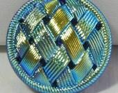 Woven Ribbons Czech Glass Button