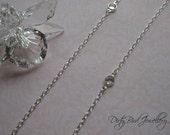 Swarovski Crystal and Sterling Silver Necklace - 20% OFF Sale