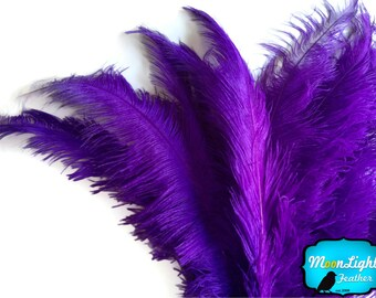 "Ostrich Feathers, 10 pieces - PURPLE Ostrich Spads Centerpiece Feathers 20-28"" : 3492"