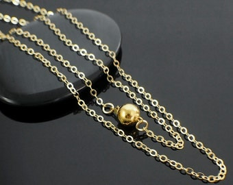 14kt Gold Filled Chain - 2.3mm Flat Oval Cable - Made in the USA - By The Foot for Finished with Clasp