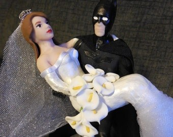batman and bride wedding cake topper uk popular items for on etsy 11114