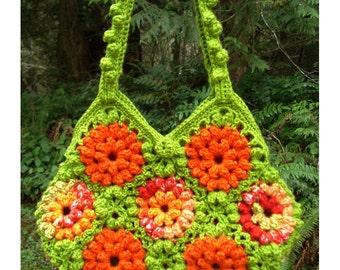 Crochet Pattern PDF – A Garden of Zinnias Bag – PA-211