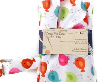 """Birds Hanging Wet Bag for Cloth Diapers or Kitchen Towels 24"""" X 13"""""""