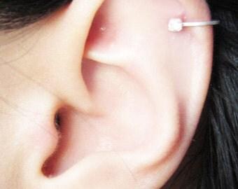 Sterling Silver 2.5mm Cubic Zirconia Ear Cuff