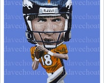 Peyton Manning, Denver Broncos Art Photo Print.