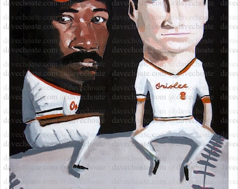 Eddie Murray and Cal Ripken, Baltimore Orioles Art Photo Print