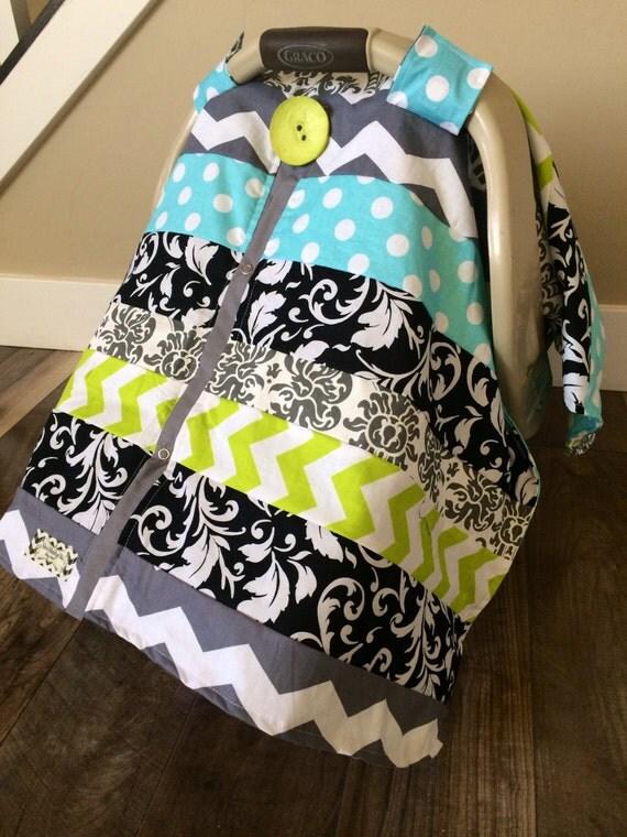 Car Seat Canopy STUNNING OOAK patchwork  / Car seat cover / car seat canopy / carseat cover / carseat canopy / nursing cover