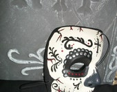"""Man's Hand-Painted Skull Half Mask """"He's a Stud!"""""""