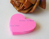 "100 Hearts Tags Size 2"" In Non-textured or Textured Cardstock paper -"