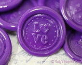 Peel and Stick Flexible Wax Seals LOVE