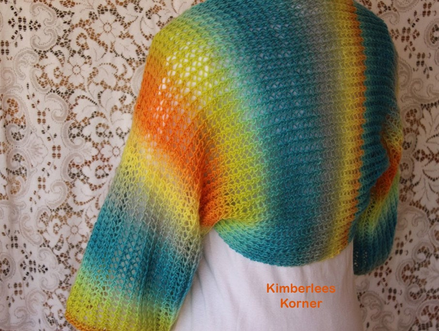 Knitting Pattern For Lace Bolero : Knitting Pattern Lace Knit Shrug Patterns by KimberleesKorner