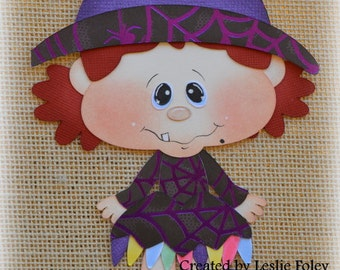 Witch Premade Halloween Scrapbooking Embellishment Paper Piecing set