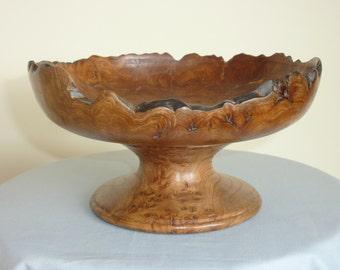 Burr Elm Pedestal Bowl