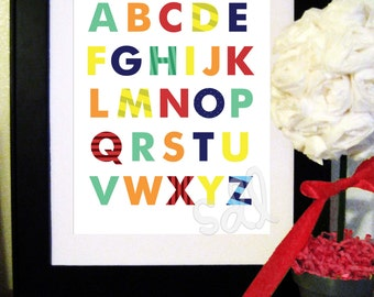 PRINTABLE PDF Instant Download Nursery Alphabet