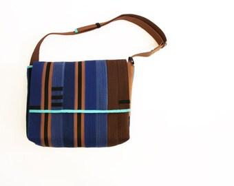 Karate Belt Messenger in Blue and Brown
