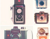 Vintage Camera Photography - Retro Inspired Art Prints - wall art, camera print set, Duaflex, Bullet, Brownie, Starmite - The Collection