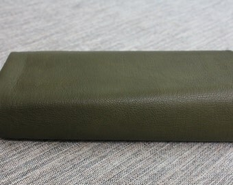 Middle thickness FAUX Leather, Lamb style, Olive Drab, S007
