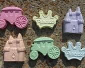 6 pieces of princess sidewalk chalk