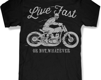 LIVE FAST MOTORCYCLE Mens t shirt -- 8 color options -- sizes sm med lg xl xxl