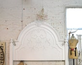 Painted Cottage Shabby White Romantic King Headboard BD33
