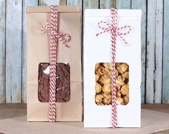 Tin Tie Bags, Half Pound Bags, Favor Bag COMBO PACK, Wedding Favor Bags, Candy Buffet Bags, Bakery Bags, Party Favor Bags, Sweet Bags (12)