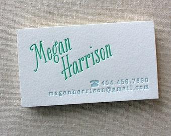 letterpress calling cards (set of 150)