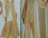 Long Vest Sewing Pattern UNCUT Simplicity 8809 Sizes 18-24