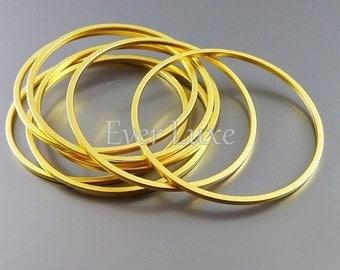 4 plain 30mm circle pendants, modern round connectors, jewelry findings supplies, hoop pendants 997-MG-30