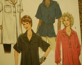 Womens Big Shirt Patterns--Multi Sizes 8-14--UNCUT Patterns--40-70% off Patterns n Book SALE