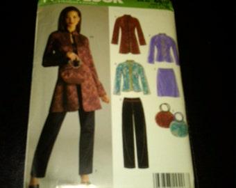Oriental Jacket, Purse Multi Pattern-Multi Sizes-sz 10-22  UNCUT Pattern 40-70% off Pattern SALE