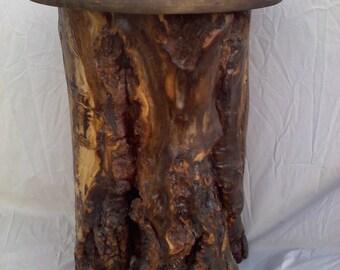Tree stump table Natural Aspen Burled log