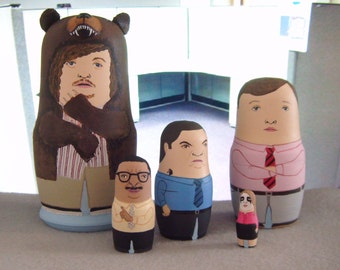 Mini Workaholics Matryoshka Dolls