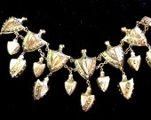 Stunning Old Chinese Art Deco Ornate Festoon Vintage Antique Bracelet