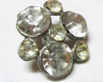 Glass Rhinestone Button