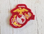 United States Marine Corps Eagle Globe and Anchor Hair Bow double prong Clippie USMC EGA  hobbyist license #31420