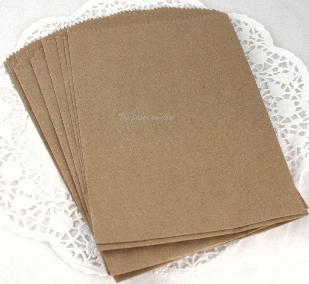 100 Brown Paper Bags 5x7 Bags Printable Bags Wedding Favor