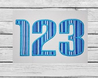 Applique Numbers 1