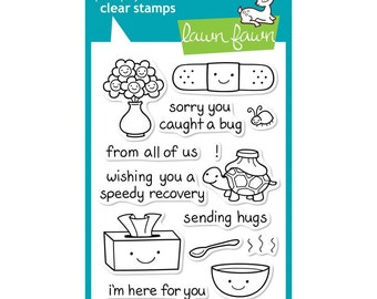 on the mend clear stamps 16 cute stamps � get well soon