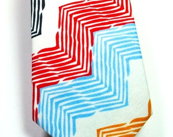 Mens Neckties, Colorful Chevron Neckties, Wedding Neckties, Custom Neckties