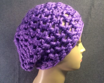 Periwinkle Slouch Hat Free Shipping