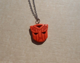 Transformers Autobot Orange Howlite Necklace