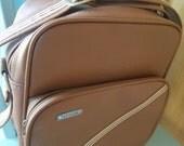 Sale - Vintage - Travel Case - Samsonite Concord - Warm Brown - Soft Shell Luggage