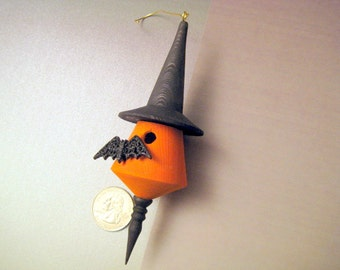 Miniature Ornamental Bat House Halloween Handmade Hanging Decoration