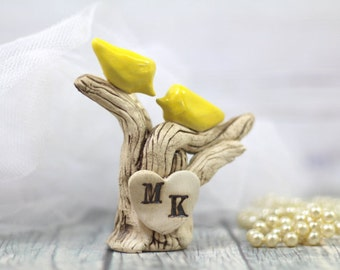 Custom Cake Topper Tree wedding cake topper Dove wedding cake topper Rustic wedding decor Love Birds cake topper